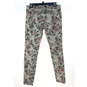 Blank NYC Taupe Pink Floral Skinny Jeans
